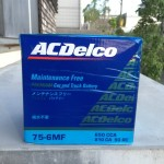 ACDelco(75-6MF)にバッテリーを交換